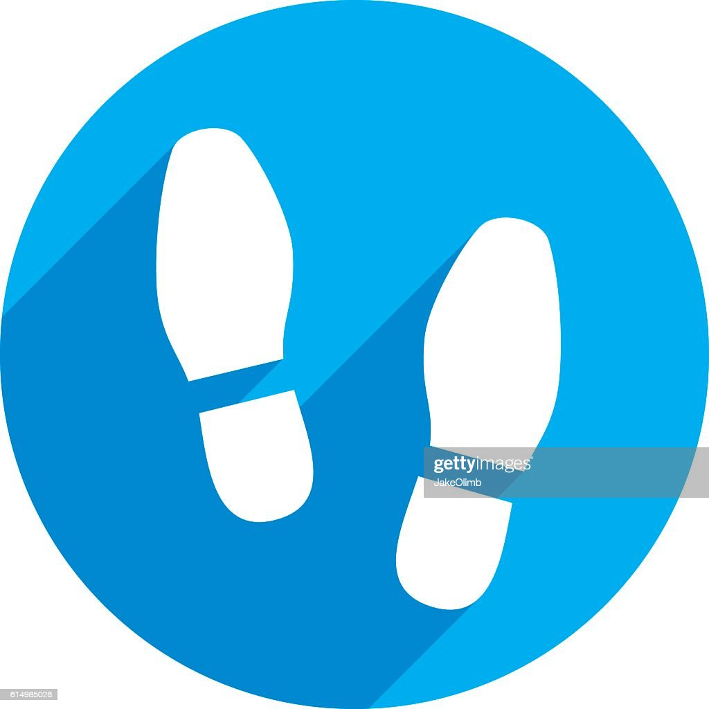 Shoes Print Icon Silhouette : stock illustration