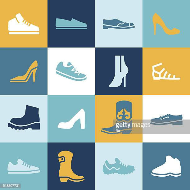 shoes - footwear stock illustrations, clip art, cartoons, & icons