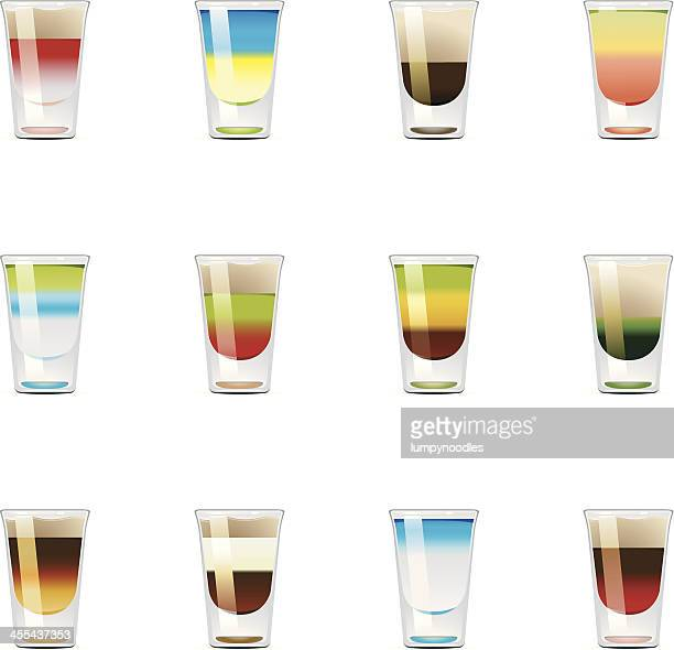 shooter icons - shot glass stock illustrations, clip art, cartoons, & icons