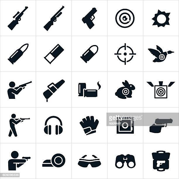 Shooting and Target Practice Icons