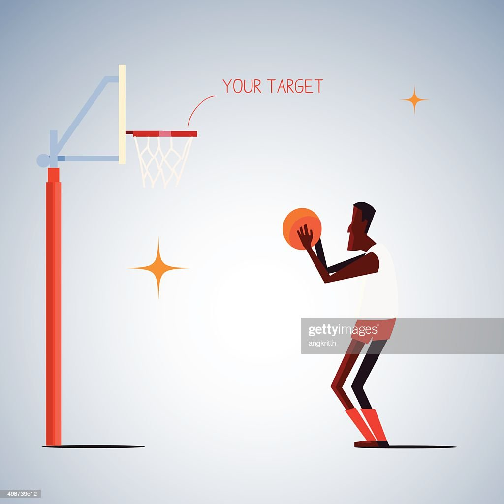 shooting basketball.life goal concept