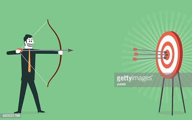 Schießen auf der Bullauge von Ziel