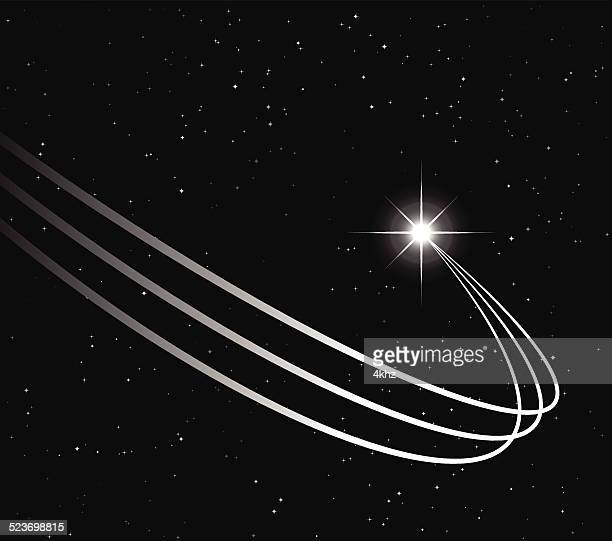 Shooting Star Trail Stock Vector Background