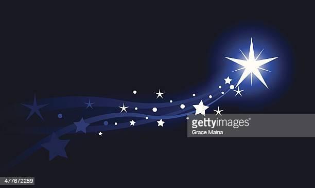 ilustraciones, imágenes clip art, dibujos animados e iconos de stock de tiro de star - estrella fugaz