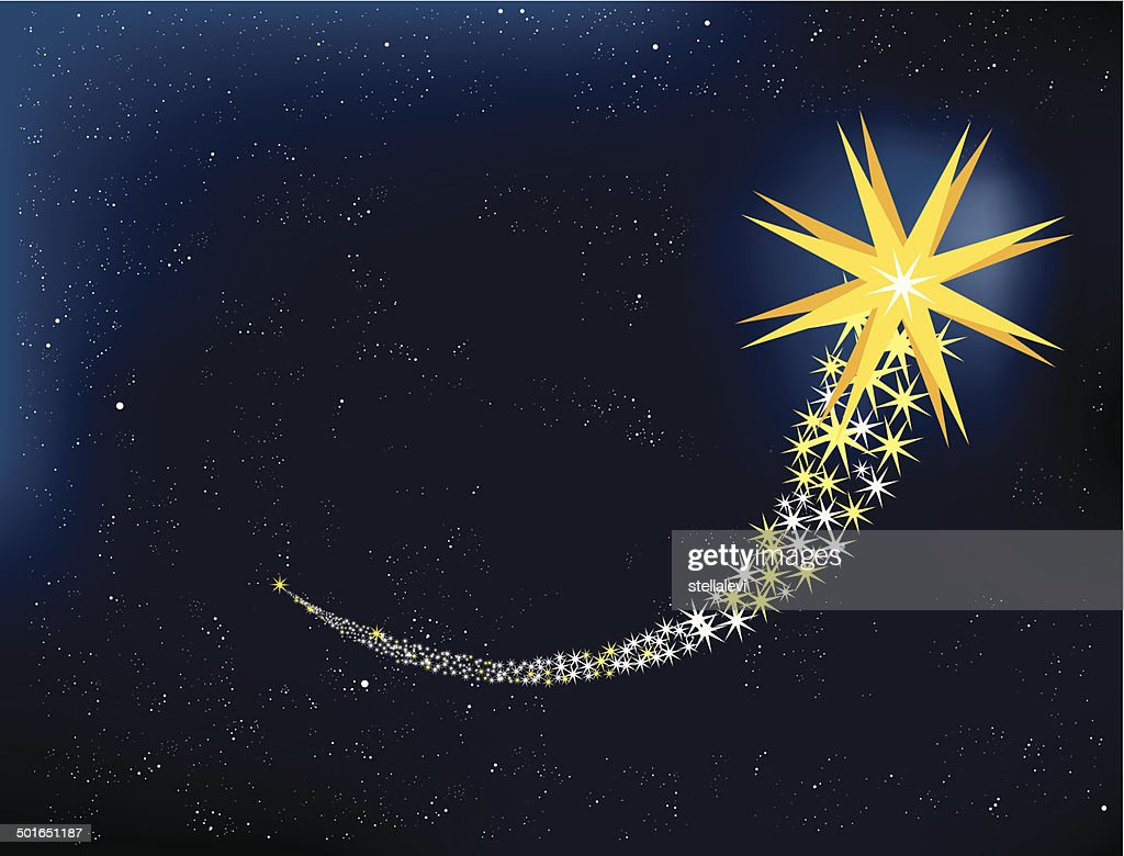 Shooting star : stock illustration