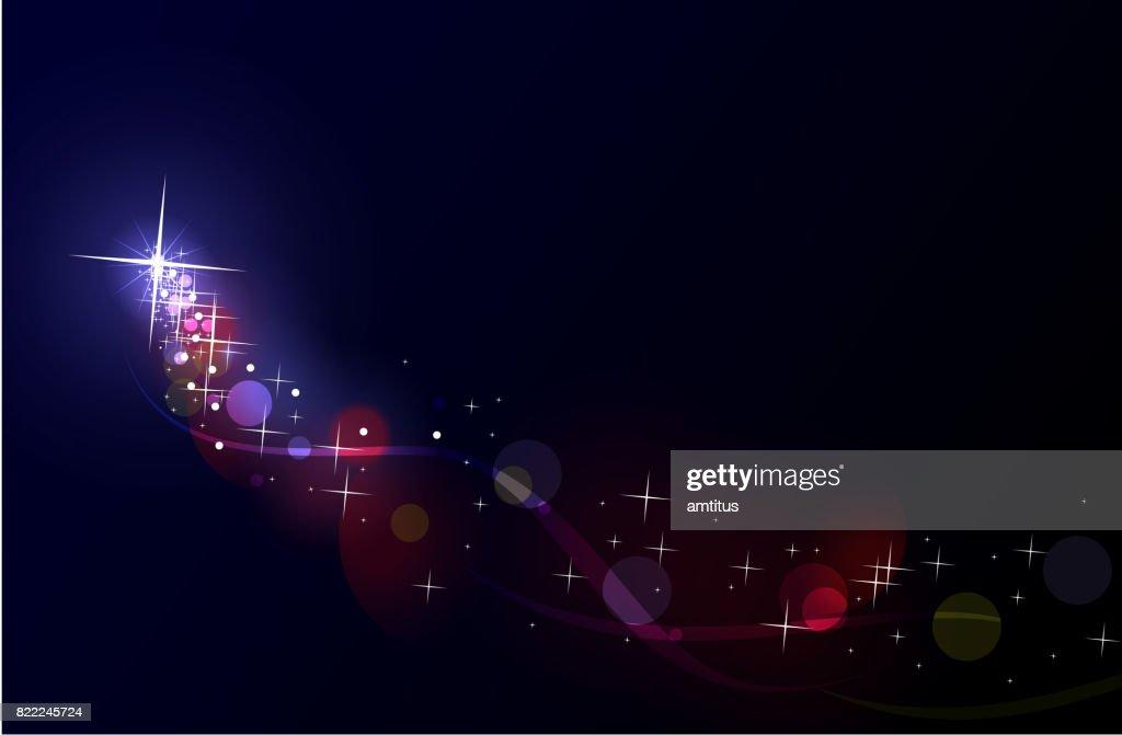 Shooting star : stock illustration