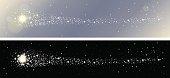 Shooting stars banner set