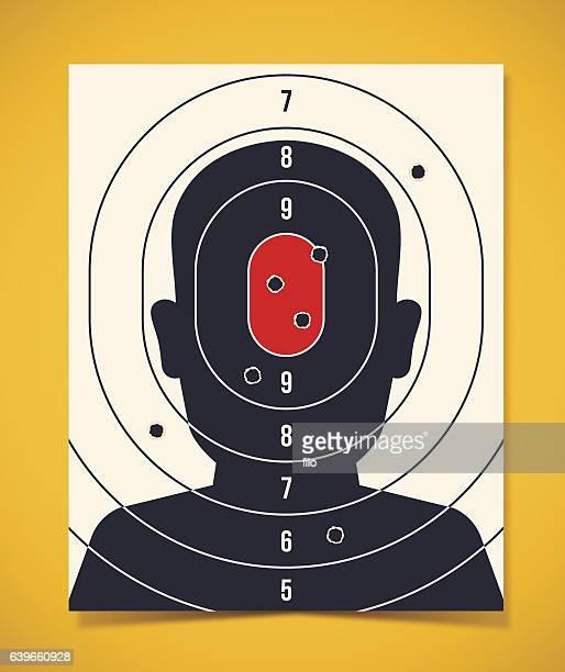 Shooting Target Head Silhouette