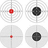 Shooting target vector set.
