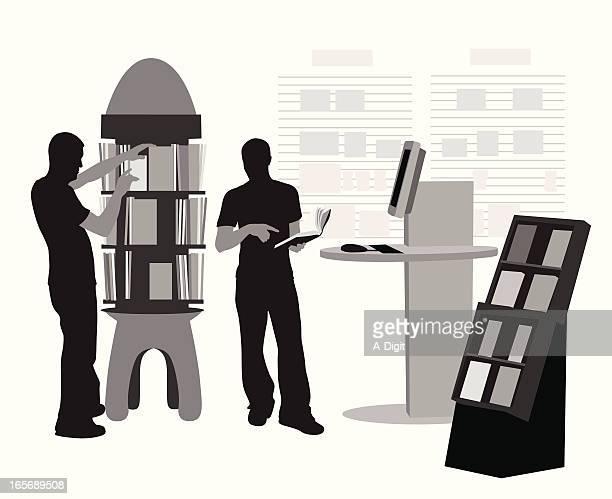 ilustrações, clipart, desenhos animados e ícones de shopforbooks - livraria
