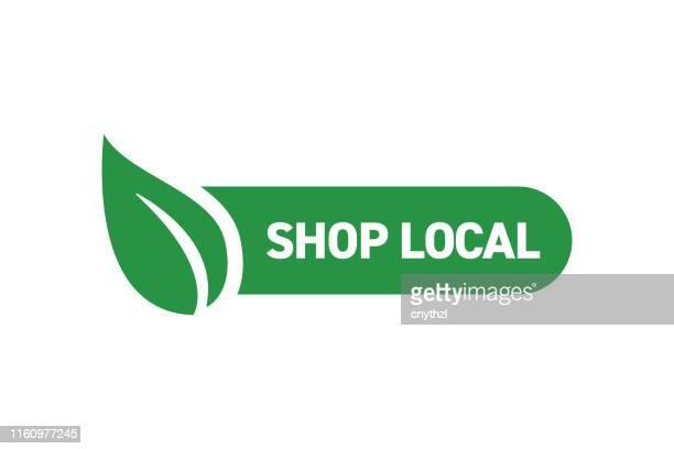 ilustrações, clipart, desenhos animados e ícones de compre o projeto local do emblema - produto local