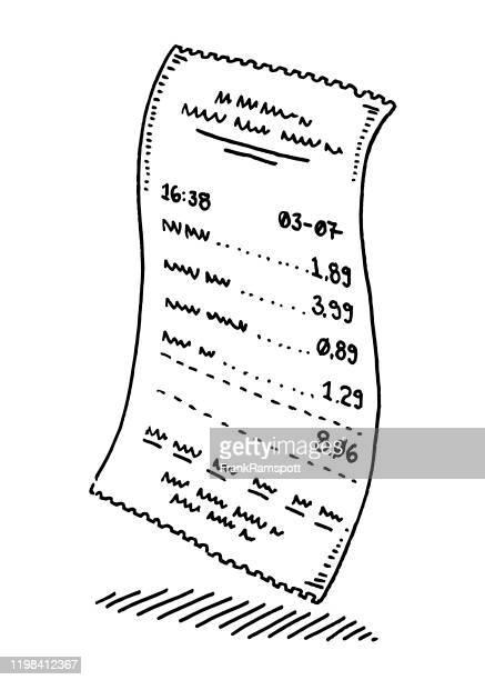 ショップ支払い用紙領収書図面 - 領収書点のイラスト素材/クリップアート素材/マンガ素材/アイコン素材