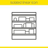 Shop shelves icon