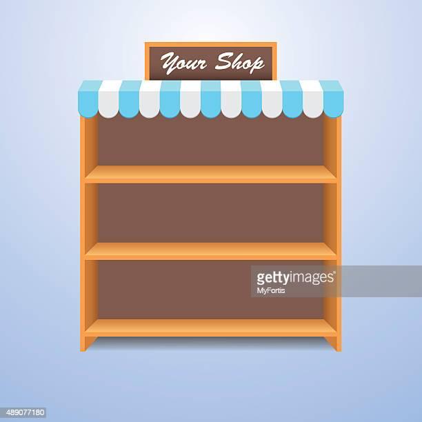 ショップの棚 - 棚点のイラスト素材/クリップアート素材/マンガ素材/アイコン素材