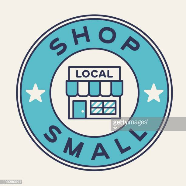 shop small local business support badge - store sign stock illustrations