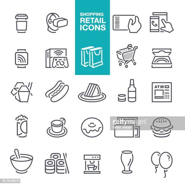 Shoping and Retai line Icons
