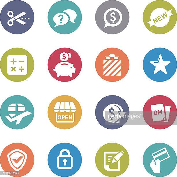 shopping and buying icon - circle series - checkout stock illustrations, clip art, cartoons, & icons
