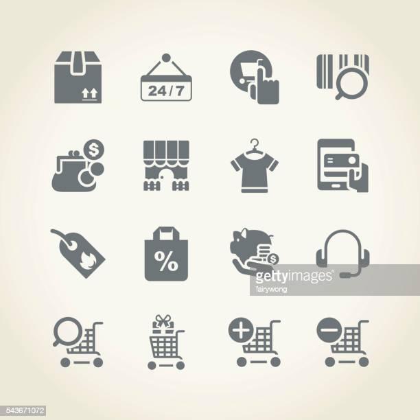 Iconos de compras y compra