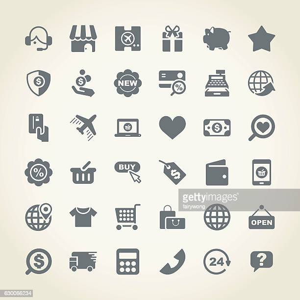 Shopping and buying icon