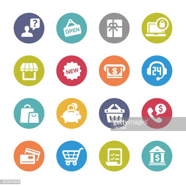 Shopping and Buying Icons - Circle Series