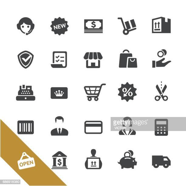 shopping and buying icons - select series - credit card reader stock illustrations, clip art, cartoons, & icons