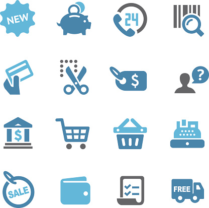 Shopping and Buying Icons Set - Conc Series - gettyimageskorea