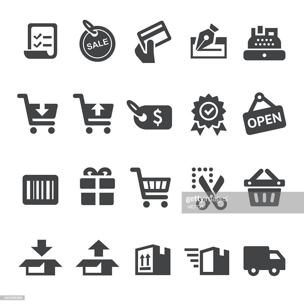 Shopping and Buying Icons - Smart Series : stock illustration