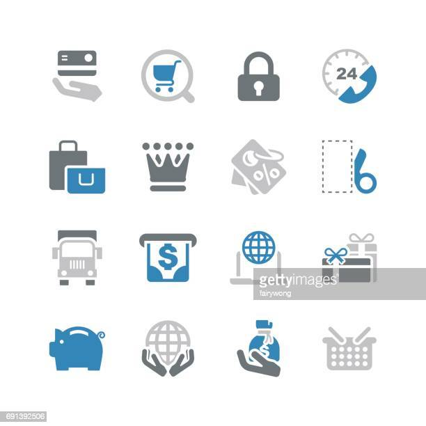 shopping and buying icons - cash flow stock illustrations, clip art, cartoons, & icons