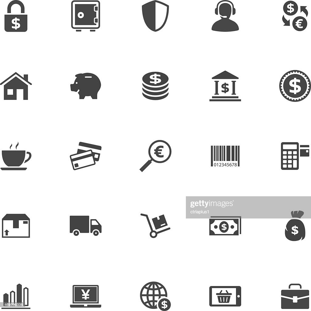Shopping and Commerce Icon on White Background