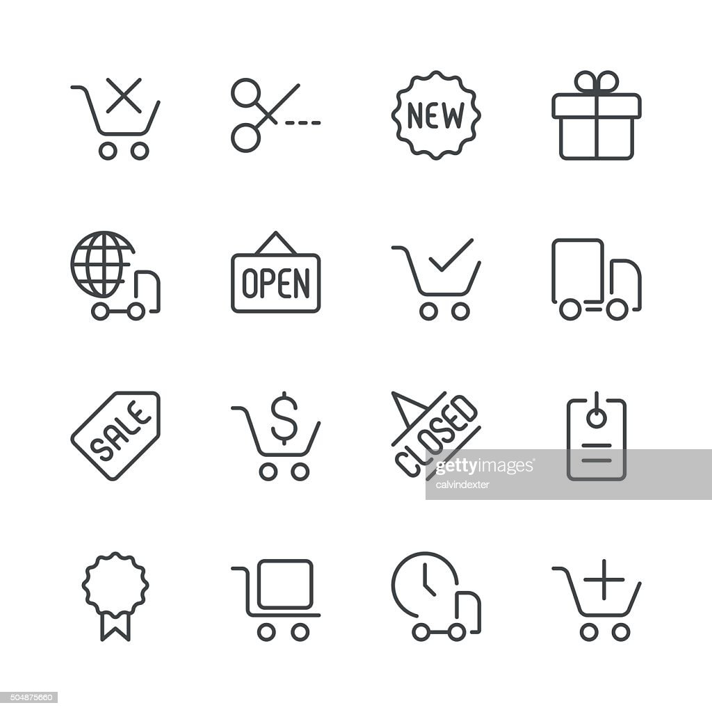 Shopping and E-Commerce Icons set 2 | Black Line series