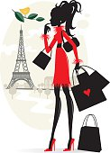 Shopping and Paris