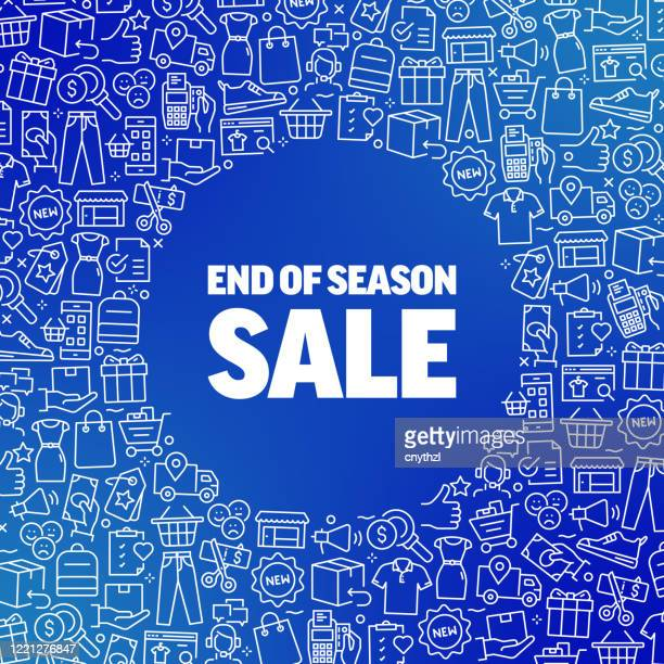 end of season sale - shopping and retail concept vector pattern and abstract background. - glühend stock illustrations