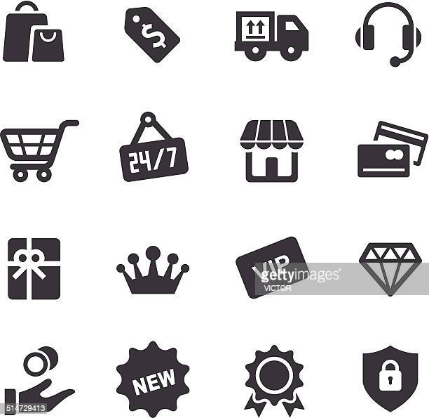shopping and retail icons - acme series - celebrities stock illustrations