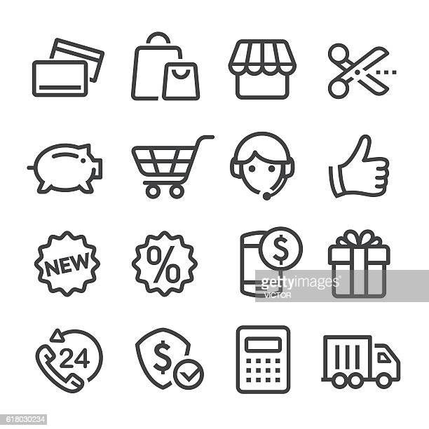 Shopping and Retail Icons - Line Series