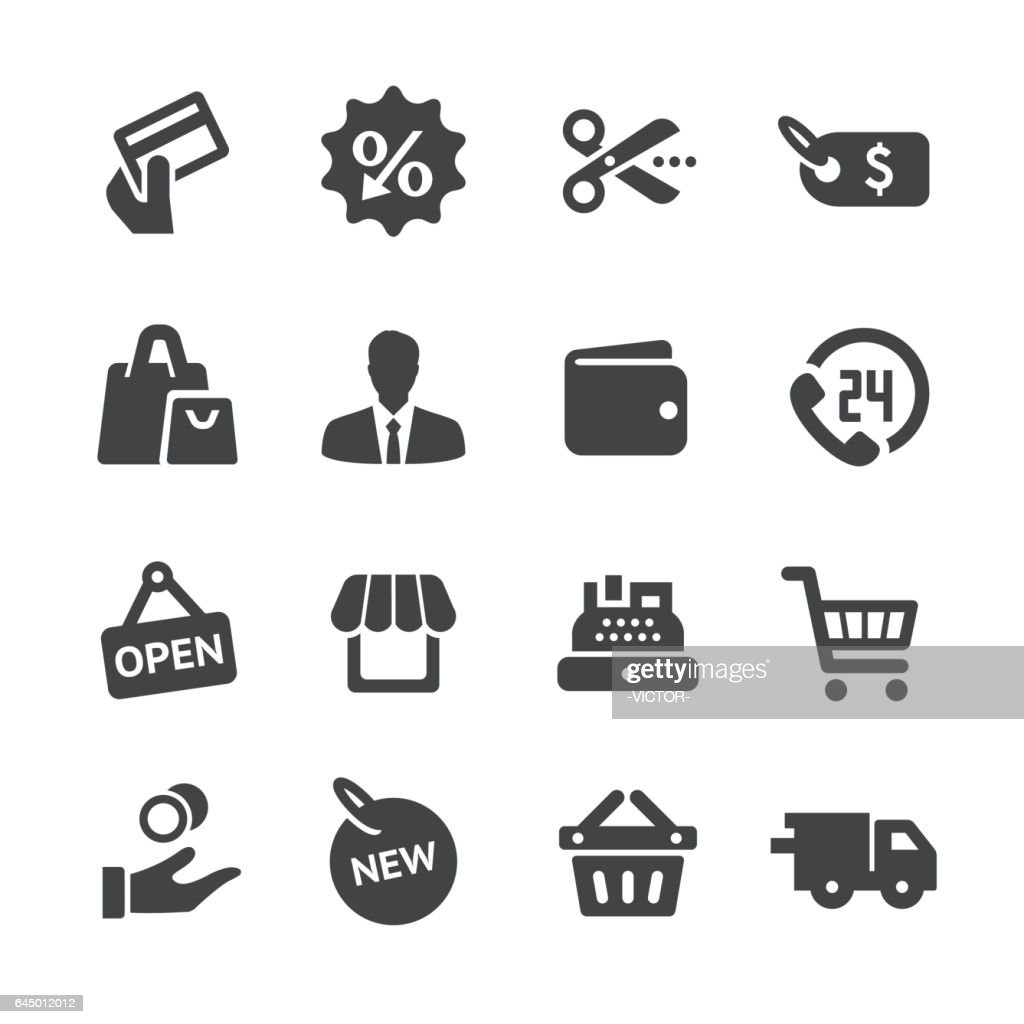 Shopping and Sale Icons - Acme Series : stock illustration
