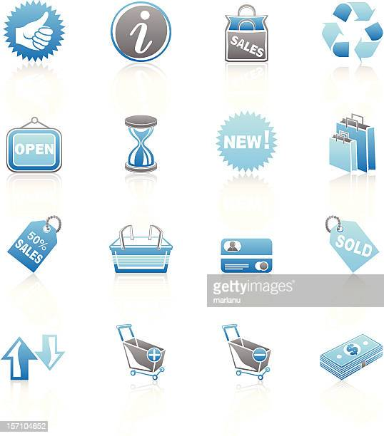 Shopping and Sale Icons - Blue Series