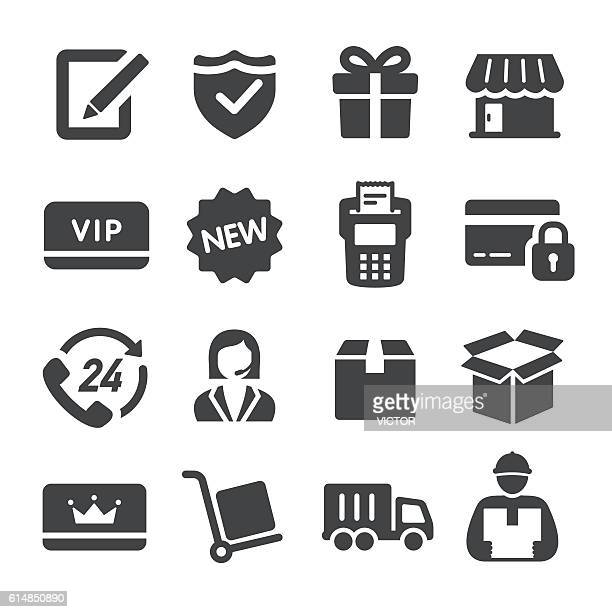 shopping and shipping icons - acme series - new stock illustrations