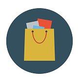 Shopping Bag Colored Vector Icon