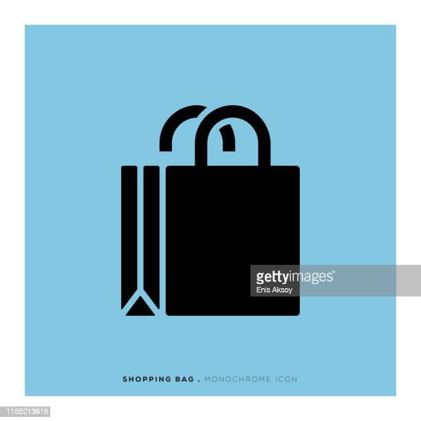 shopping bag icon - shopping bag stock illustrations