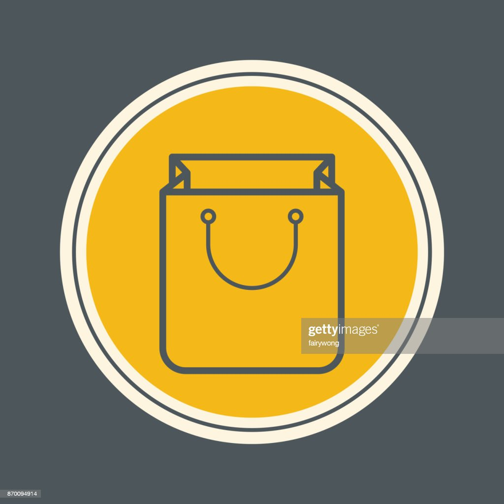 Shopping bag icon : stock illustration