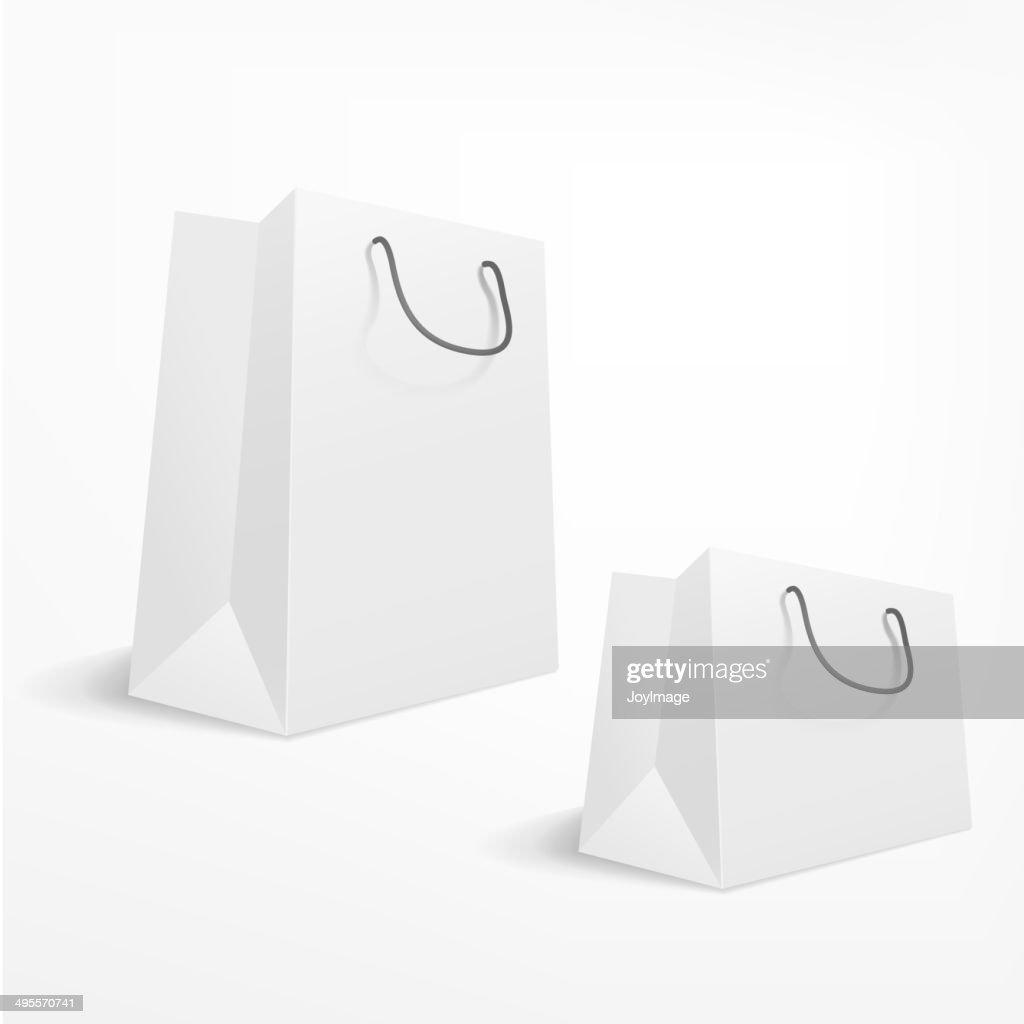 shopping bag on white background