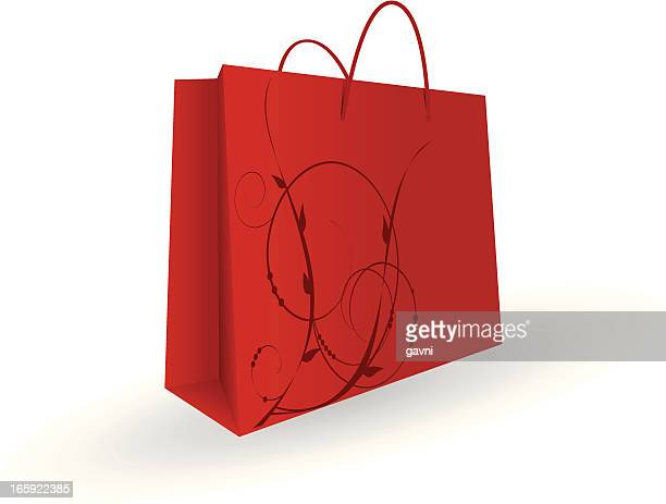 shopping bag - goodie bag stock illustrations, clip art, cartoons, & icons