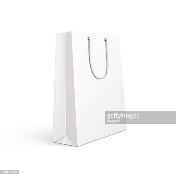 illustrations, cliparts, dessins animés et icônes de sac de shopping - blanc