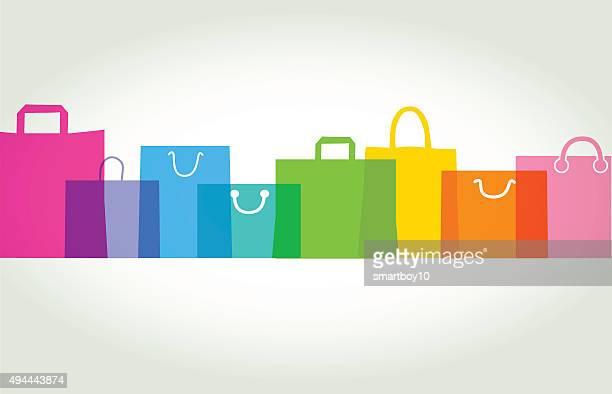 illustrazioni stock, clip art, cartoni animati e icone di tendenza di borse-confezioni regalo - cliente