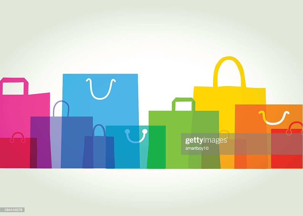 Shopping bags - Gift bags : stock illustration