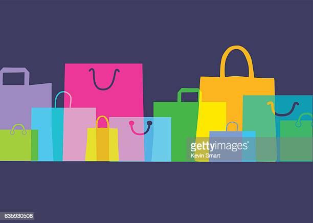 illustrazioni stock, clip art, cartoni animati e icone di tendenza di borse-confezioni regalo - vendita al dettaglio