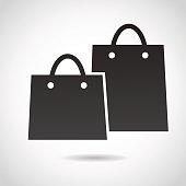 Shopping bags icon.