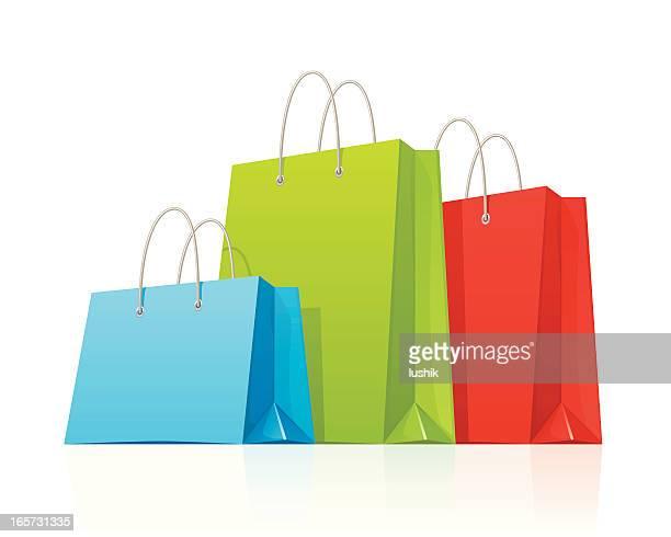 illustrations, cliparts, dessins animés et icônes de sacs de shopping - bag