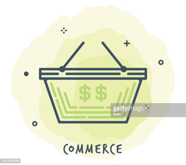 Shopping Basket Line Icon