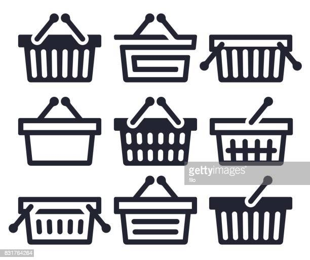 Shopping Basket Symbols and Icons